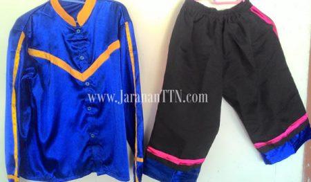 Kostum Penari Kuda Lumping Dewasa teridiri Stelan Baju Lengan Panjang dan Celana Pendek