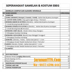 Proposal Gamelan Ebeg Banyumasan / Kuda Lumping/ Janturan
